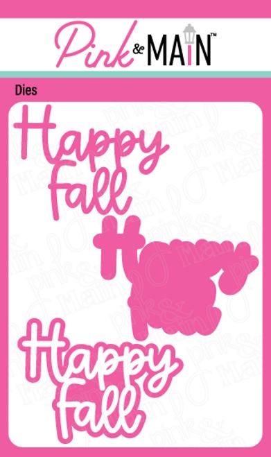 Happy Fall Word Dies
