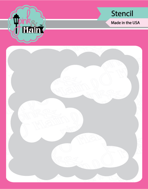 Pink and Main Cloud Stencil