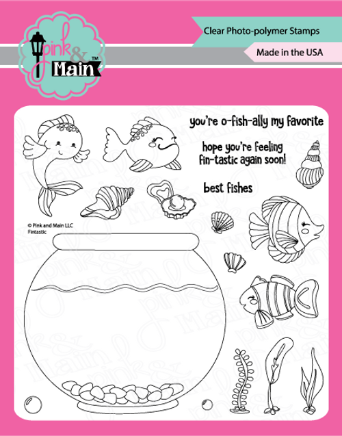 Pink and Main Fintastic Stamp