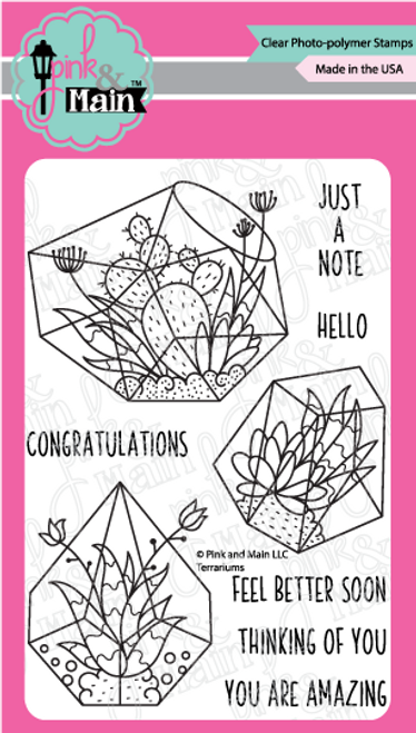 Pink and Main Terrariums Stamp