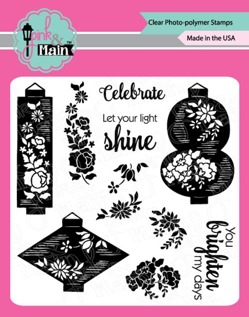 Pink and Main Lanterns stamp