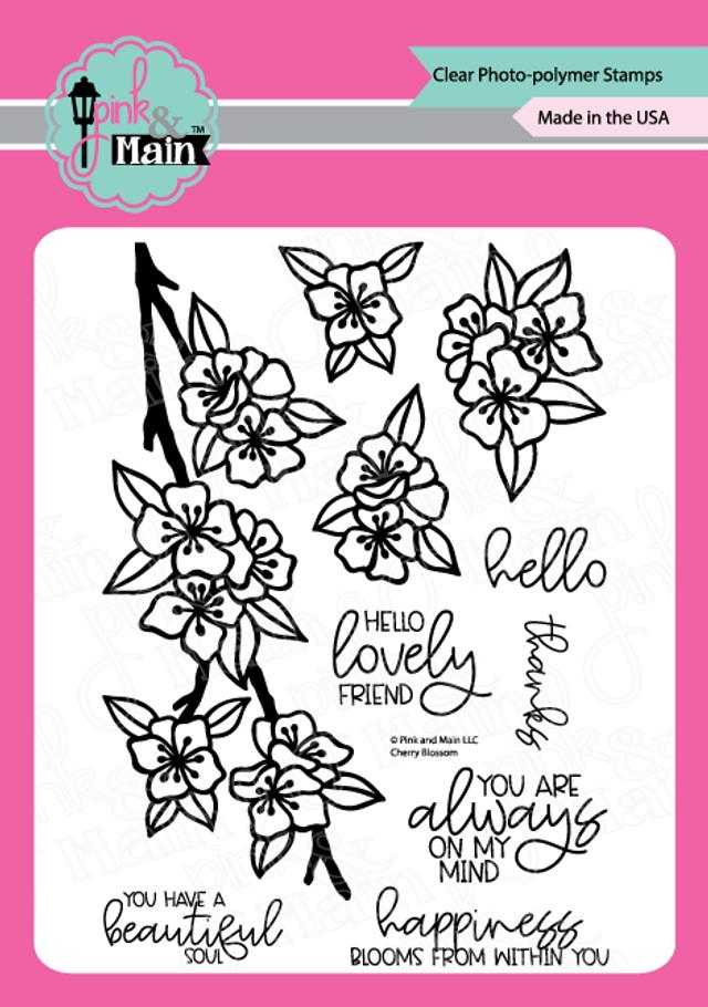 Pink and Main Cherry Blossom stamp set