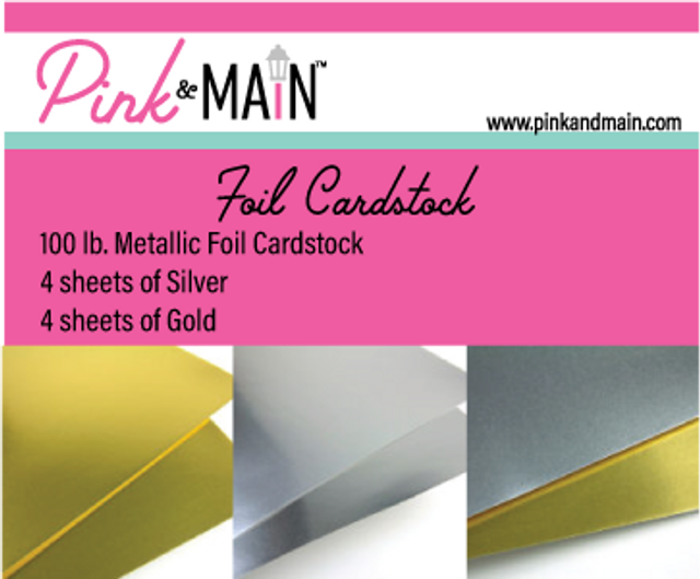 Pink and Main Foil Cardstock gold and silver