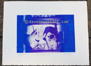 """DAVE REFLECTION 1965"" - purple/blue silkscreen  No.10 of 23"