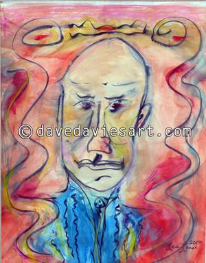 """""""JOE PASS"""" - ORIGINAL DAVE DAVIES PAINTING"""
