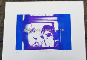 """DAVE REFLECTION 1965"" - purple/blue silkscreen  No.16 of 23"