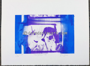 """DAVE REFLECTION 1965"" - purple/blue silkscreen  No.14 of 23"