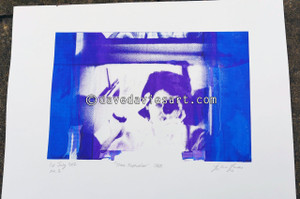 """DAVE REFLECTION 1965"" - purple/blue silkscreen  No.2 of 23"