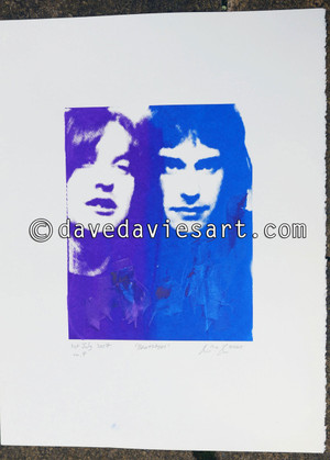 """BROTHERS"" - purple/blue silkscreen  No.4 of 30"
