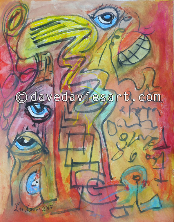 """INNER EYES"" - ORIGINAL DAVE DAVIES PAINTING"