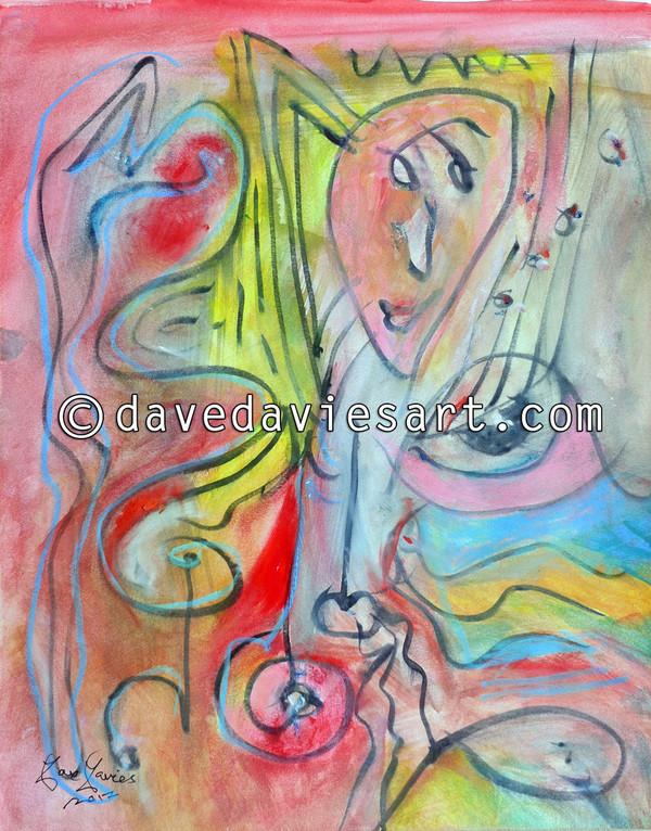 """""""JAZZ"""" - ORIGINAL DAVE DAVIES PAINTING"""