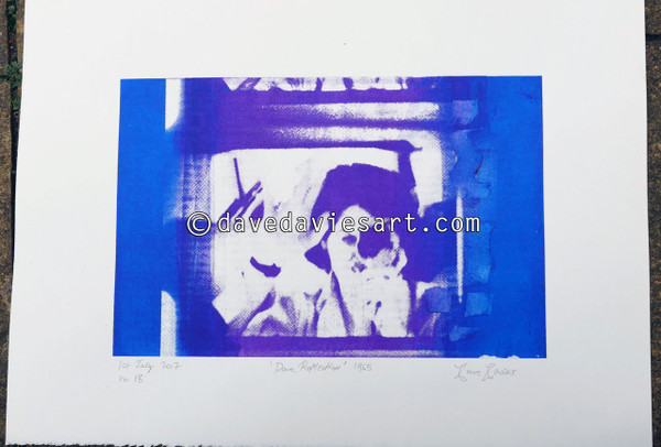 """DAVE REFLECTION 1965"" - purple/blue silkscreen  No.18 of 23"