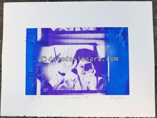 """DAVE REFLECTION 1965"" - purple/blue silkscreen  No.20 of 23"