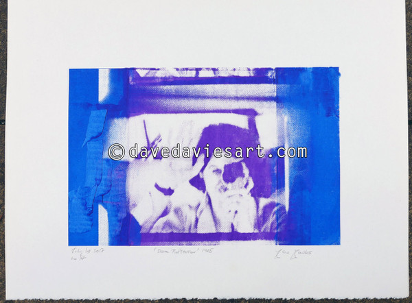 """DAVE REFLECTION 1965"" - purple/blue silkscreen  No.14 of 23"