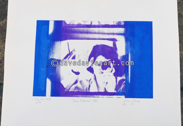 """DAVE REFLECTION 1965"" - purple/blue silkscreen  No.13 of 23"