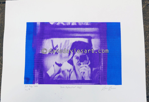"""DAVE REFLECTION 1965"" - purple/blue silkscreen  No.7 of 23"