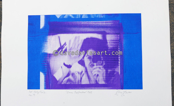 """DAVE REFLECTION 1965"" - purple/blue silkscreen  No.9 of 23"