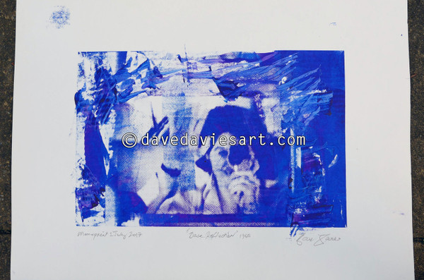 """DAVE REFLECTION 1965"" - purple/blue silkscreen  Monoprint 1"
