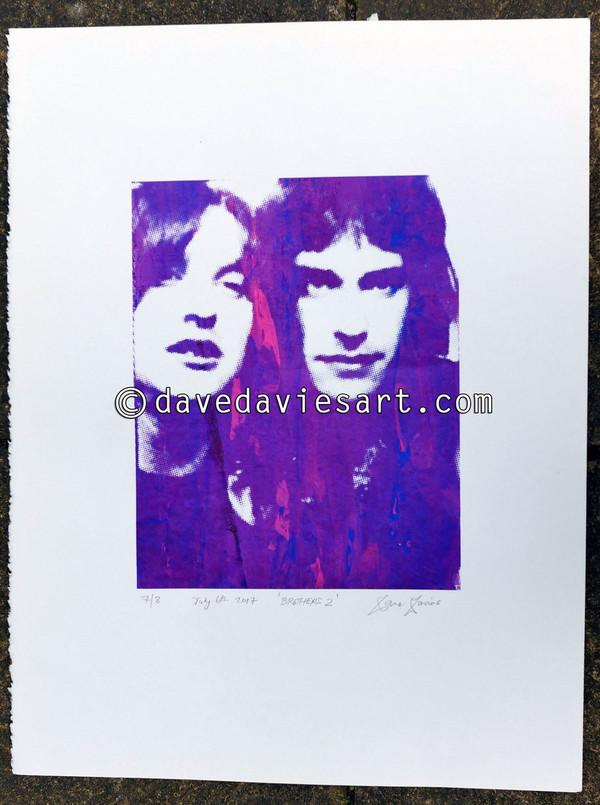 """BROTHERS"" - purple/blue silkscreen  No.7 of 30"