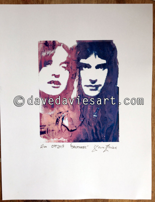 """""""BROTHERS"""" - BLUE/PURPLE GICLEE PRINT - prints No. 2 to 100"""