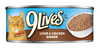 9 Lives Liver++and Chicken Dinner Canned Cat Food-5.5-oz, Case Of 24-{L+1}