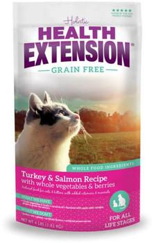 Health Extension Grain Free Turkey & Salmon Dry Feline Food 12 / 1 lb