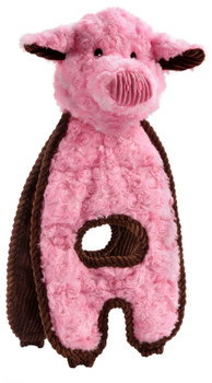 Charming Pet Products Cuddle Tug Peachy Pig Dog Toy 1ea