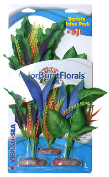Blue Ribbon Pet Products Colorburst Florals Plants Variety Pack 1 Lg, 1 Md, 1 Sm