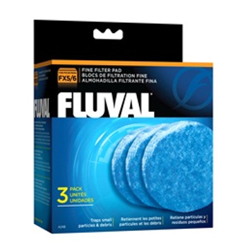 Fluval Fine Filter Pad 3-pk Fx5 {requires 3-7 Days before shipping out}