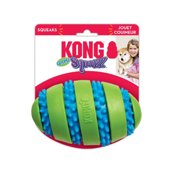 KONG Squeezz Goomz Football Dog Toy Large