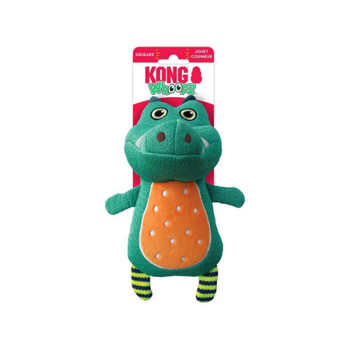 KONG Whoopz Gator Dog Toy Green Small
