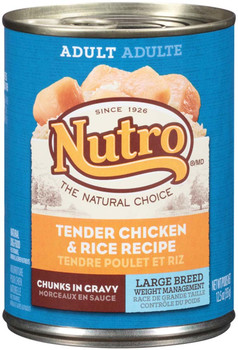 Nutro Products Weight Management Tender Chicken & Rice Large Breed Canned Dog Food 12ea/12.5 oz, 12 pk