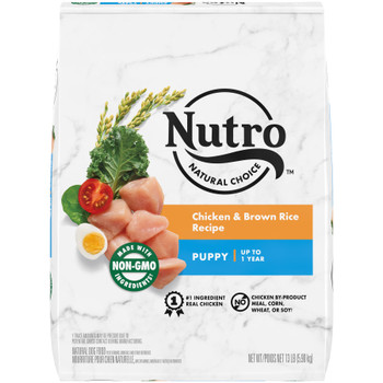 Nutro Products Natural Choice Chicken & Brown Rice Recipe Dry Puppy Dog Food 13 lb