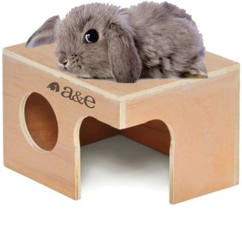 A & E Cages Small Animal Hut Rabbit Wood 14 in X 9 3/4 in X 8 1/4 in