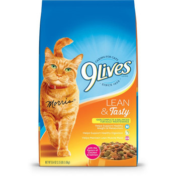 9Lives Lean And Tasty Dry Cat Food 3.15 lb