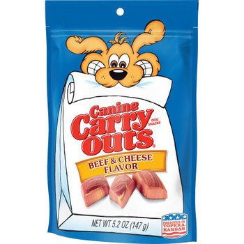 Canine Carry Outs Beef and Cheese Dog Treats 5.2 oz