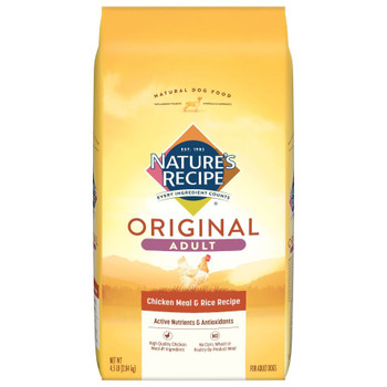 Nature's Recipe Adult Dry Dog Food Chicken Meal Rice 4.5 lb