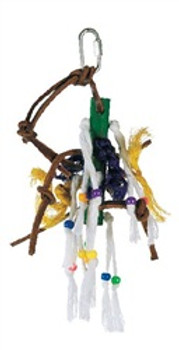 Lw Junglewood Small Wood Peg W/rope {requires 3-7 Days before shipping out}