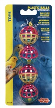 Lw 4 Plastic Balls W/ Bells{requires 3-7 Days before shipping out}
