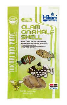 Hikari Bio-pure Frozen Clam On A Half Shell Flat Pack 4oz SD-5