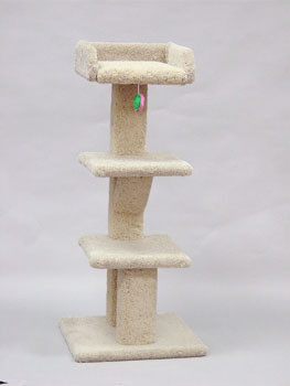 North American Pet North American Pet Classy Kitty Tree W/ Tray And 2 Shelves 48in