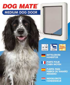 Ani MateDog Mate Dog Door White Medium