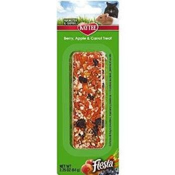 Kaytee Fiesta Ber/apple/carrot Small Animal Stick 2.25oz