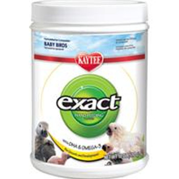 Kaytee exact Hand Feeding Formula was one of the first instant formulas available and is one of the most researched and respected products used by professional breeders, veterinarians and conservation programs throughout the world. exact food #;s high-