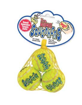 Kong Airdog Squeakair Tennis Ball Small 3pk