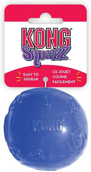 """KONG Squeezz products are the newest and coolest squeaking dog toys on the market. They are available in six fun shapes (ring, dumbbell, football, stick, bone & ball), multiple sizes and four vibrant colors (ruby, amethyst, emerald and sapphire). Eac"""""""