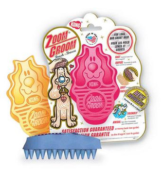 Kong Zoomgroom Rubber Brush Boysenberry