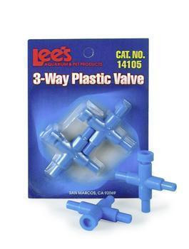 Lee's Three-way Plastic Valve 2pk