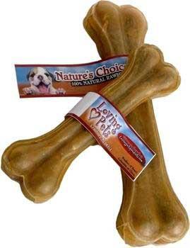 Loving Pet Natures Choice Pressed Rawhide Bone 10in