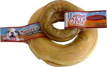 Loving Pet Natures Choice Pressed Rawhide Donut 6in